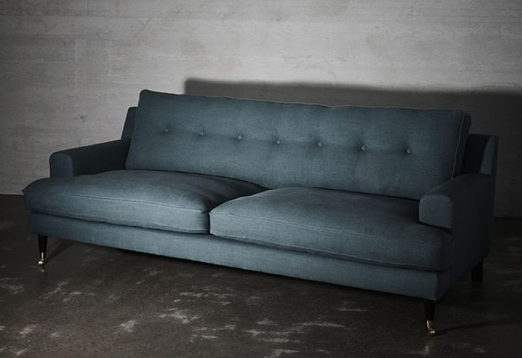Novel Howard Sofa  Teal Ashes. Clean design with a modern interpretation of a classical Howard design. The sofa is incredibly inviting with its deep seat combined with a contemporary look. Delivered within 6-8 weeks. Europe Free Shipping. See more at: http://layeredinterior.com/product/novel-howard-sofa/