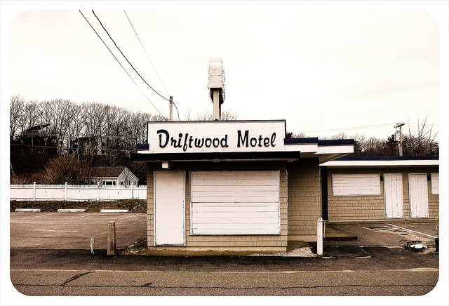 Driftwood Motel by tiny banquet committee, via Flickr