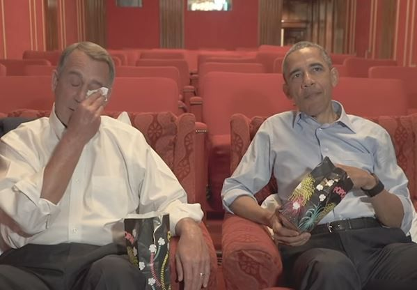 Boehner Says He Used to 'Sneak Into' White House to See Obama - John Boehner and President Barack Obama in humorous video shown at 2016 White House Correspondents Dinner.