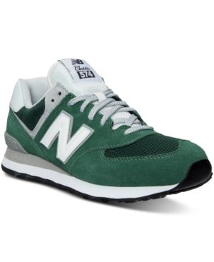 New Balance Men's 574 Varsity Classic Casual Sneakers from Finish Line - GREEN/WHITE 10.5