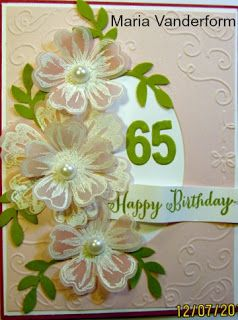Crafty Marias Stamping World A Birthday Card For Special 65 Year Old