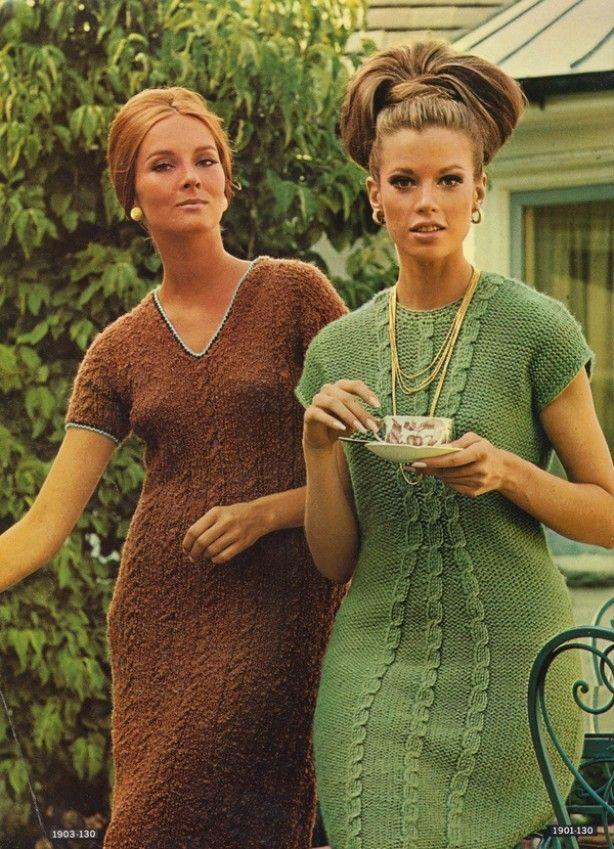 Geweldige Retro gebreide jurken '70 Vintage