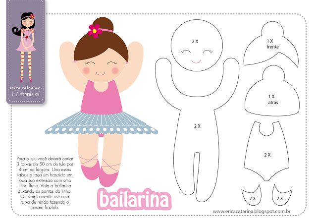 girl ballerina #pattern #template