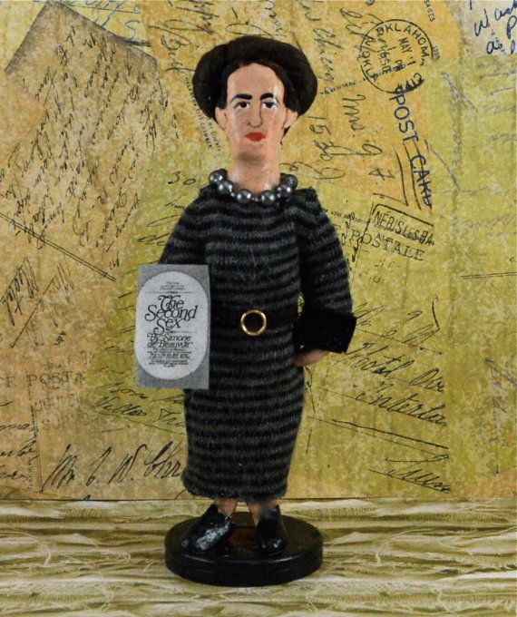Feminist Writer Simone de Beauvoir Author by UneekDollDesigns