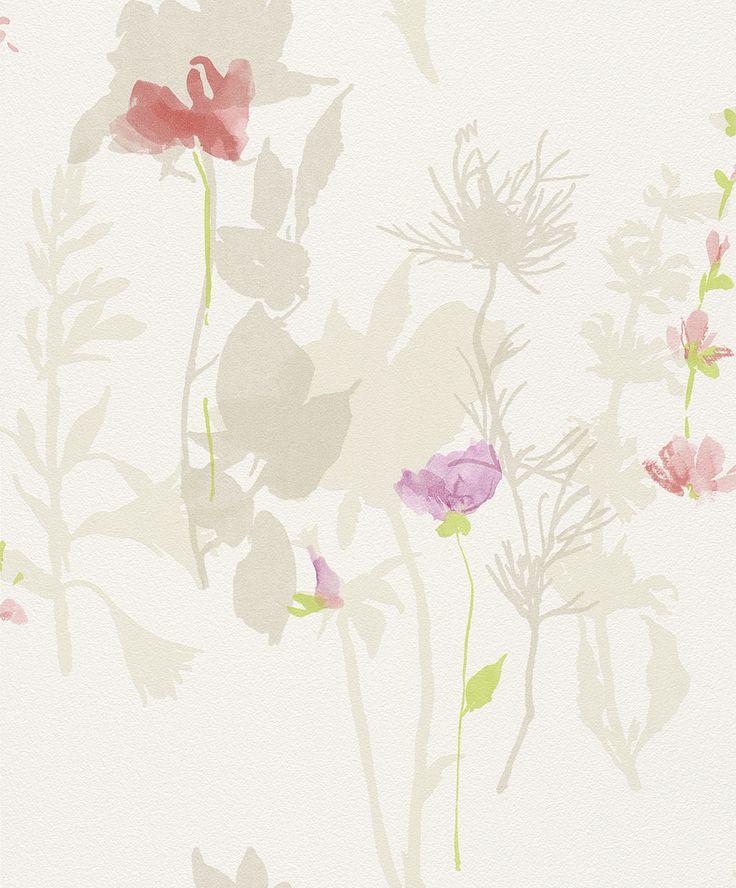 Flower Poetry 451610 by Rasch - girls bedroom