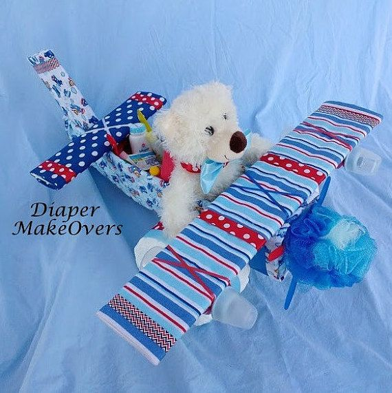 Boy Diaper Cake  Unique Baby Shower Gift  by DiaperMakeOvers