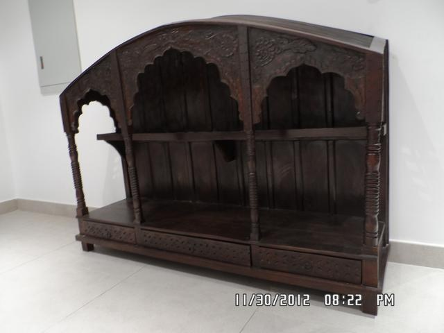 $375 AED  BARGAIN - Solid wood showpiece cabinet, purchased from Pride of Kashmir - Originally was AED 2,200