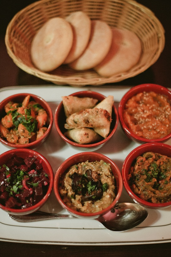 Good idea for the small salad's portions // Moroccan salads / La Maison Arabe, Marrakesh (Morocco) - photography by Tyssia