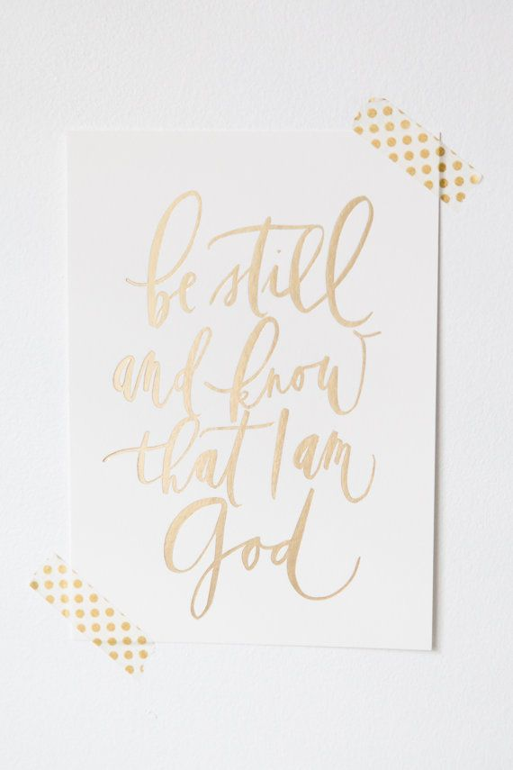 Calligraphy bible verse be still by