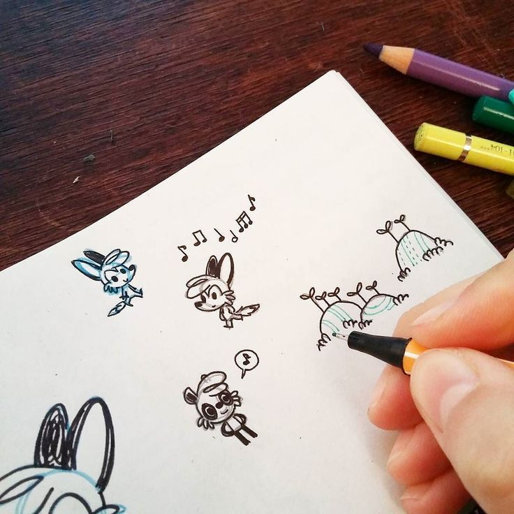 Teeny tiny doodles :> #scampisdoodlepad  by celine_scampi