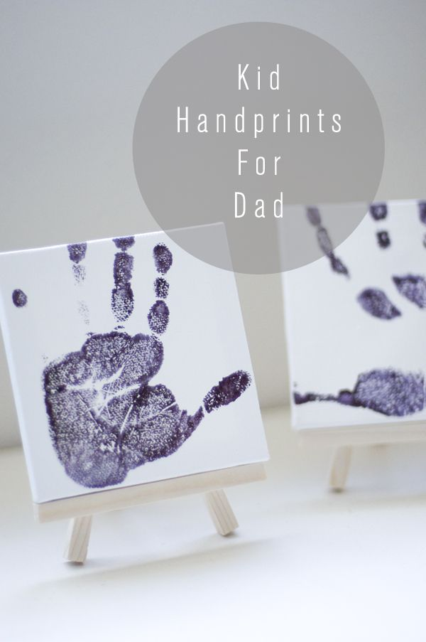 hand-prints-  5 great handmade fathers day ideas: Kids Handprint, Gifts Ideas, Gift Ideas, Cute Ideas, Handmade Ideas, Kids Hands, Fathersday, Canvas, Fathers Day Ideas