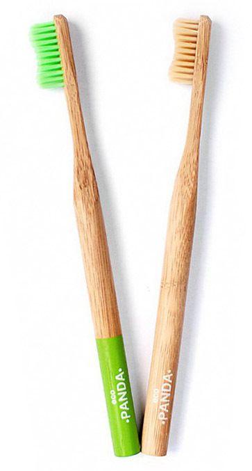 Бамбуковая зубная щетка Eco Panda, мягкая