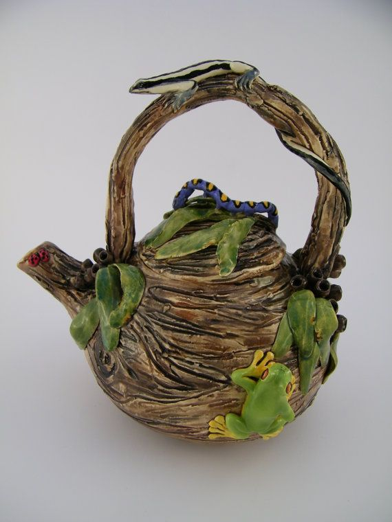 Critter Teapot  Both Functional & Decorative. by HopnFrogPottery