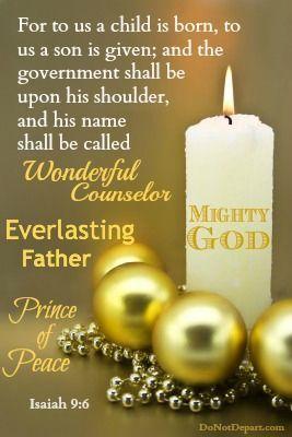 Christmas Quotes : Isaiah Jesus Christ Saviour Of The World Is Born.