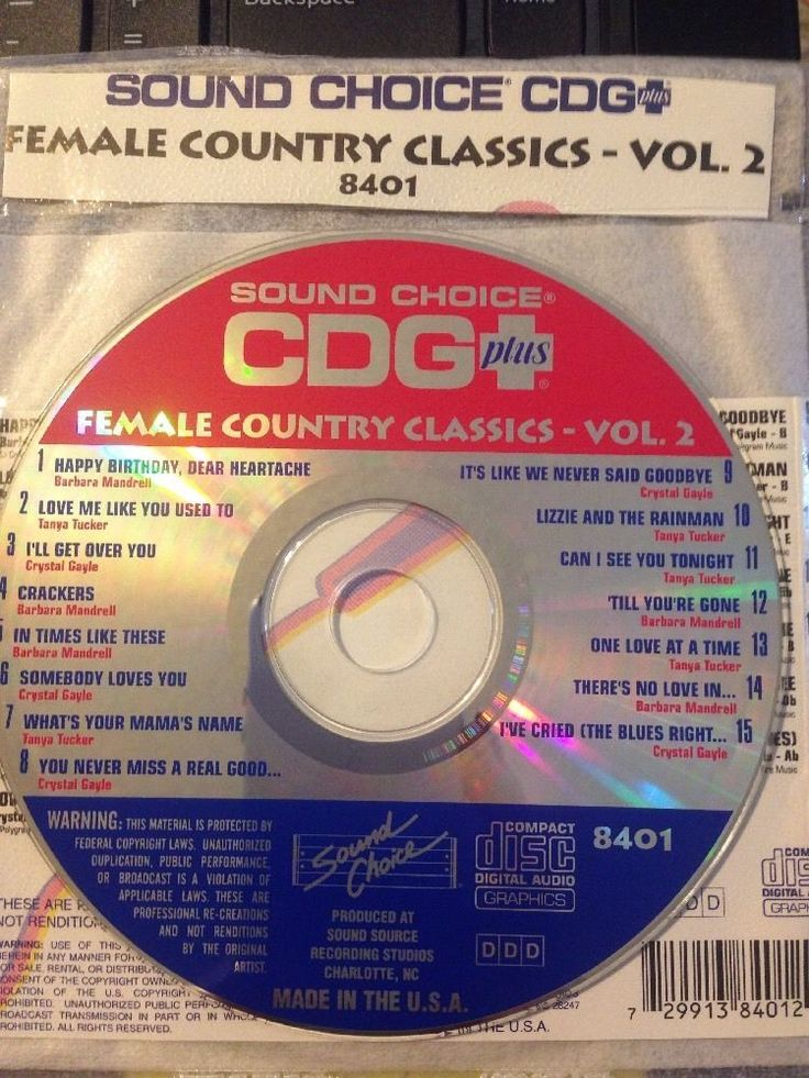 Sound Choice CDG Laser Disc Karaoke #8401 Female Country Classics Volume #2 #SoundChoice