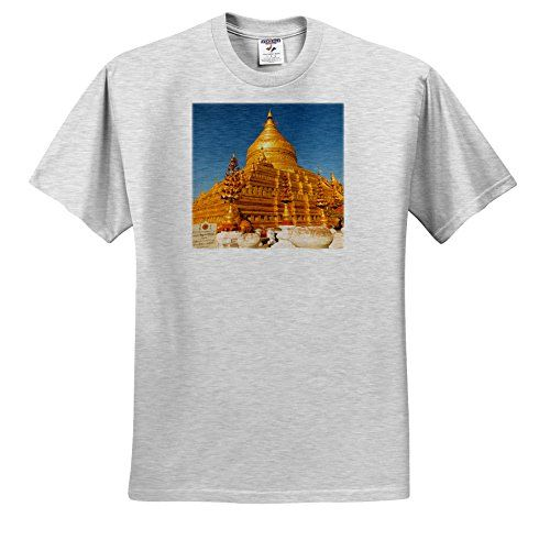 Danita Delimont  Temples  Myanmar Bagan Nyaung U Shwezigon Pagoda  TShirts  Adult BirchGrayTShirt Medium ts_225394_19 ** Check out the image by visiting the link.