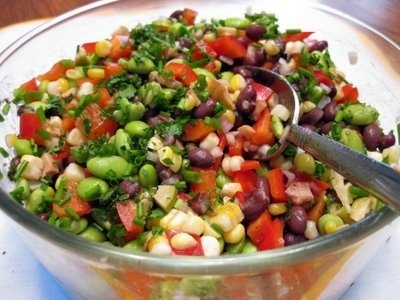 mmmm fresh: Salad Annie, Beans Salad, Summer Salad, Salad Salad, Edamame Corn Salad, Mixed Salad, Edamame Salad, Pasta Salad Recipe, Grilled Corn