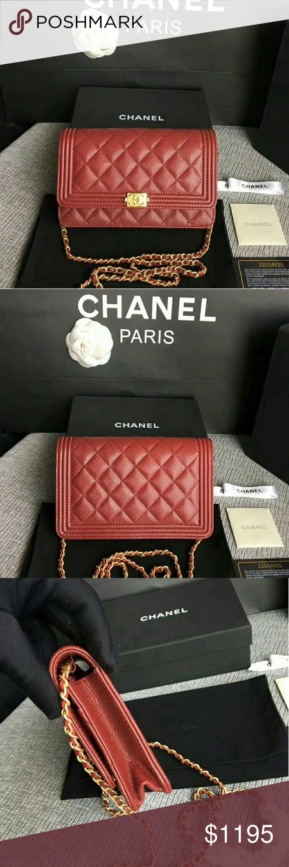 Chanel Red Leather Shoulder Bag *BLACK FRIDAY SALE*  If you would like to purchase this item or learn more about our product listings, please direct message us on Instagram:   @laluxlounge @laluxlounge @laluxlounge  Check out our customer reviews to ensure that your purchase will be worthwhile!  Product packaging and shipping times vary per item CHANEL Bags Shoulder Bags