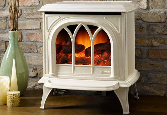 Huntingdon Electric stove - Ivory. No chimney required.