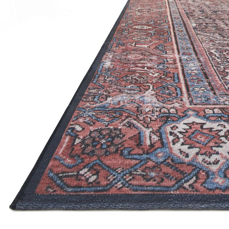 Lucca Navy Red Rug