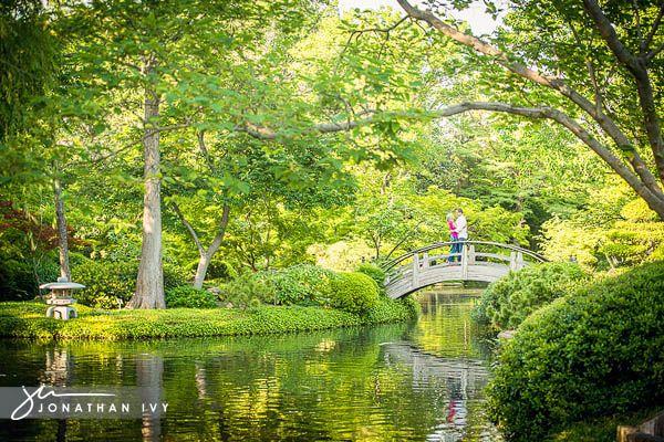 Engagement Photos Fort Worth Botanical Gardens Garden