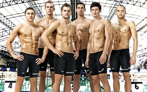 Team Great Britain Swimming -- swimmer bodies AND British accents!
