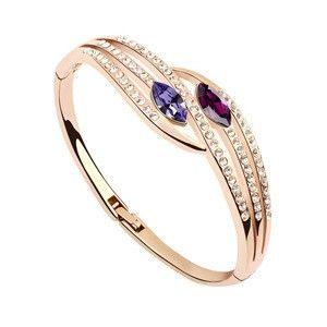 Genuine 18K Gold Plated Austria Crystal Bangle Mystic Mind TCDBL0107 #Jewelry #WomensJewelry