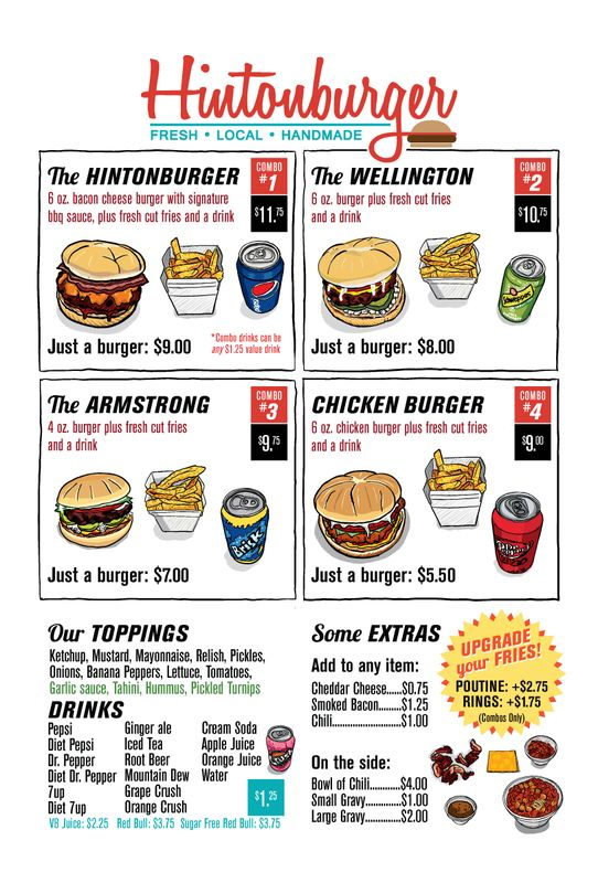 Voted BEST Burgers by Locals! Check Out Hintonburger in Downtown.