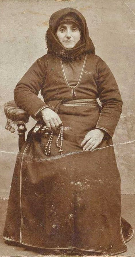 Portrait of an Armenian woman from Kars (a widow or a nun?).  Late-Ottoman era, early 20th century.