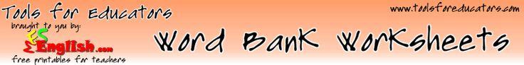 Printable word bank worksheet maker, vocabulary worksheets to print, and online worksheet templates