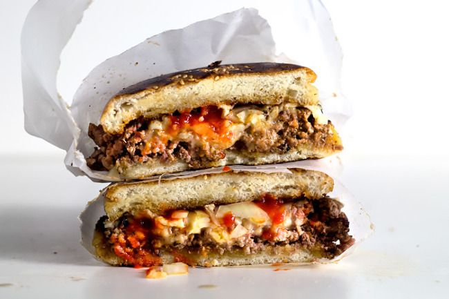 """JUSTIFICATION – MAXIMUM CARAMELIZATION SO you watched Tony Bourdain in Bronx, didn't you? And if in the next following days, a certain very catchy phrase got stuck in your head like the most maddeningly annoying tune, echoing """"chop'cheese… no, chop-peh-ded... #beef #bronx #cheeseburger"""