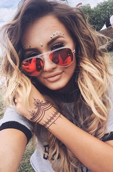 Red Mirrored Sunglasses For Festival