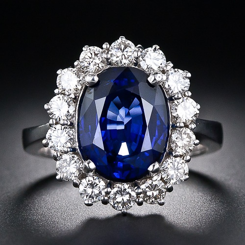 4.51 Carat Sapphire and Diamond Estate Ring - 30-91-1926 - Lang Antiques