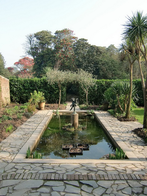 The Italian Garden at the Lost Gardens of Heligan in St. Austell, England