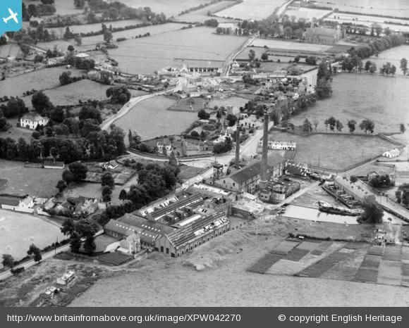 A collection of old aerial photos are now online including this one of Clondalkin Paper Mill and village #history