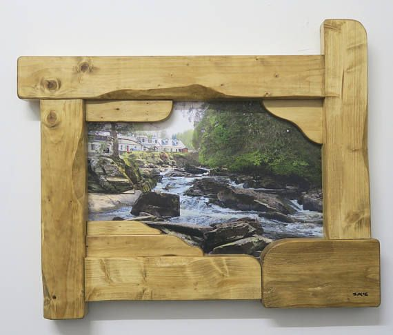 Photography with rustic sculptured frame Killin Scotland