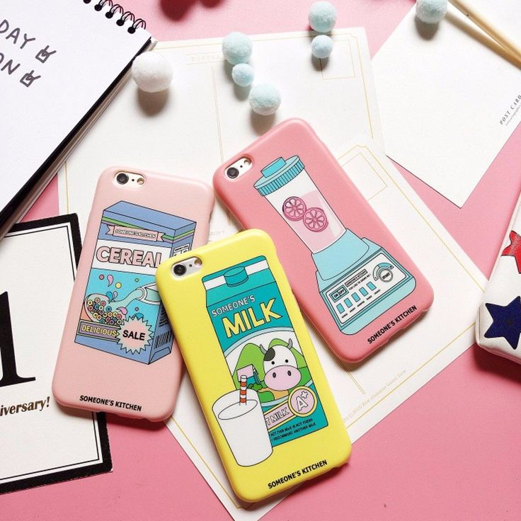 Hot Cute Candy Color Soft Pink Cereal Milk Chocolate Juice Matt Soft TPU Skin For iPhone 6 s + Fashion Cool Phone Cover Case #iphone6scase,