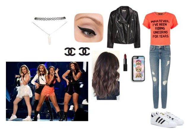"""""""Shopping with Little mix"""" by camillaknudsen on Polyvore featuring Frame Denim, adidas, H&M, NARS Cosmetics, LORAC, Wet Seal and Samsung"""