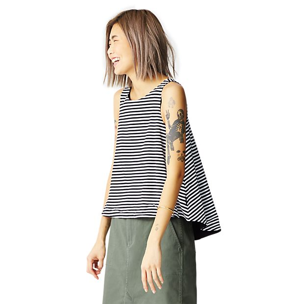 Striped Reversible TRAPEZE TOP - Kate Spade Saturday