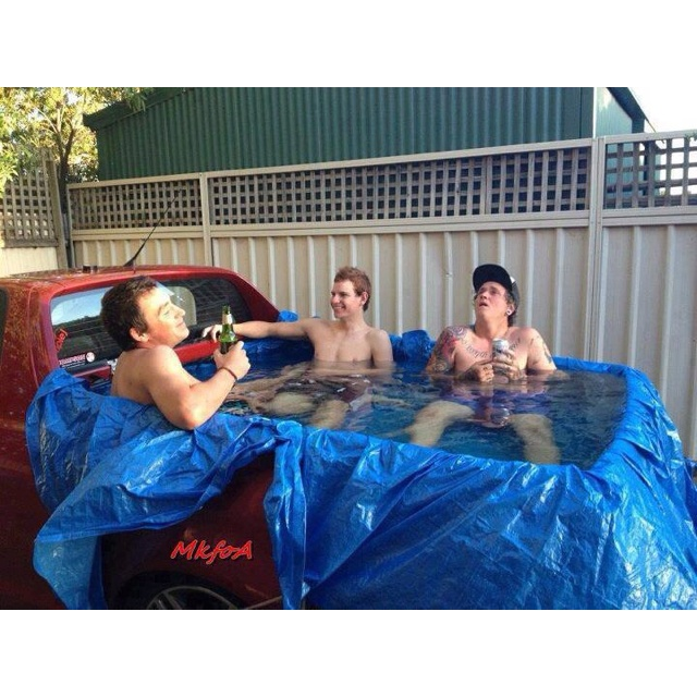 45 best images about redneck pool parties on pinterest for Swimming pool bed