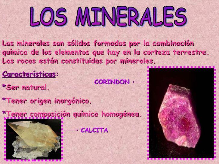 Los Minerales: -Qué son -Características