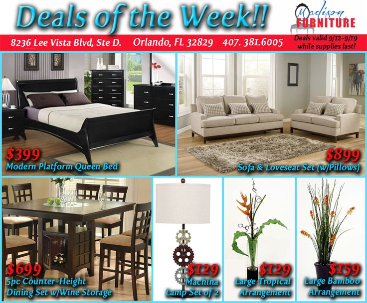 Super Discounts On Our DEALS Of The WEEK @ Madison Furniture, Your Orlando  Modern And