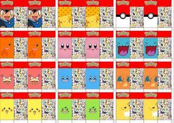 Pokémon: Cajas para Leche para Imprimir Gratis.