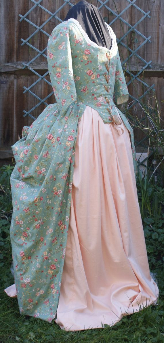 18th Century Cotton Polonaise on Etsy, $532.19