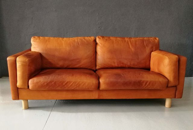 Vintage German Leather Sofa From Erpo