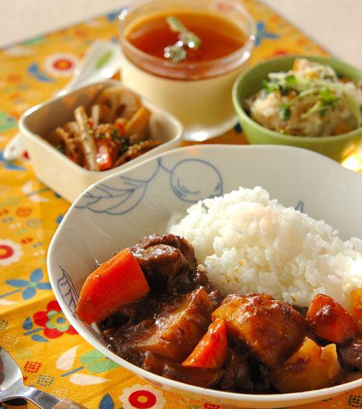 「ゴロゴロビーフカレー」の献立・レシピ - 【E・レシピ】料理のプロが作る簡単レシピ/2014.11.15公開の献立です。