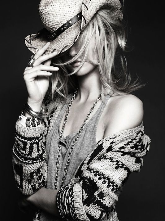 Go West. Fashion. Editorial. Fall. FW14. Trend. Style inspiration. Western. Accessories. Cowgirl chic. Kasia Struss.