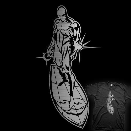 Серебряный серфер футболка