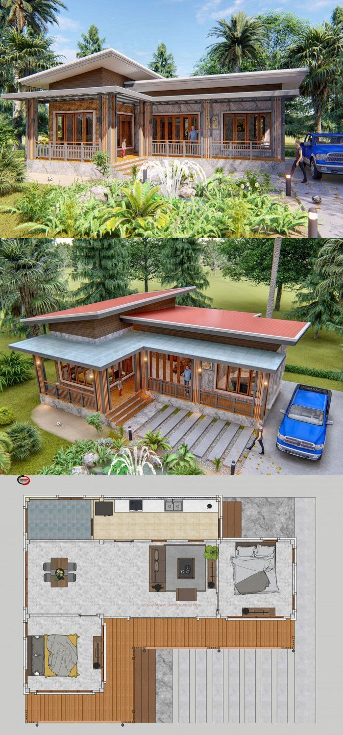 Check This Simple Cabin Inspired House House Layouts Sims House Plans Simple House Design