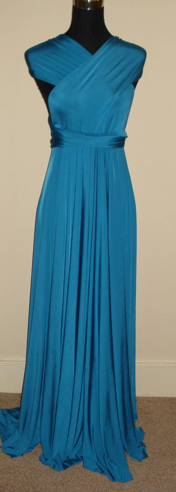 Brautjungfer Infinity Kleid Teal blau Cabrio Kleid wickeln Twist Kleid Multiway Kleid Hochzeiten Prom Abendkleid formalen Cocktail-Kleid. Petrol / blau BODENLANG CABRIO KLEID INFINITY KLEID Die Unendlichkeit ein Kleid passt für alle Gelegenheiten endlose Stile auf jeden Fall mit